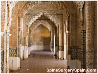 Hall in Alhambra,  Granada, Spain