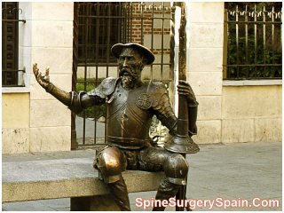 Statue of Don Quixote, Alcala de Henares-Spain